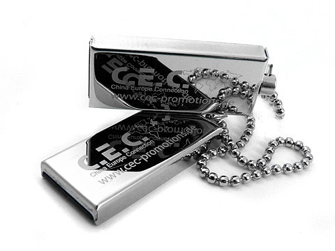 Mini-USB-Stick CEC-Promotions metall graviert, Mini.01