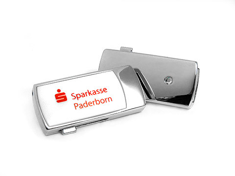 Mini-USB-Stick Schmuck-Stein Bank Sparkasse, slider, Mini.15