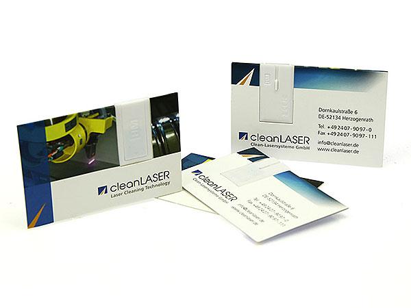 Visitenkarte Papier Paper Messe USB bedruckt digitaldruck, weiß