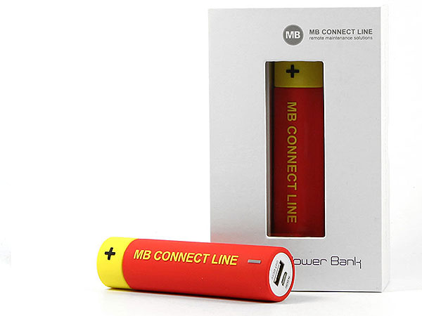 Creative custom powerbank batterie energie energy logo werbeatikel