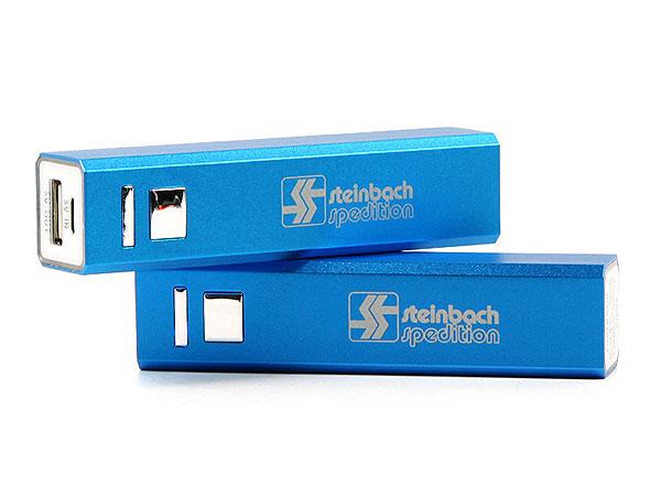 steinbach, square, akku, backup, batterie, lasergravur, blau