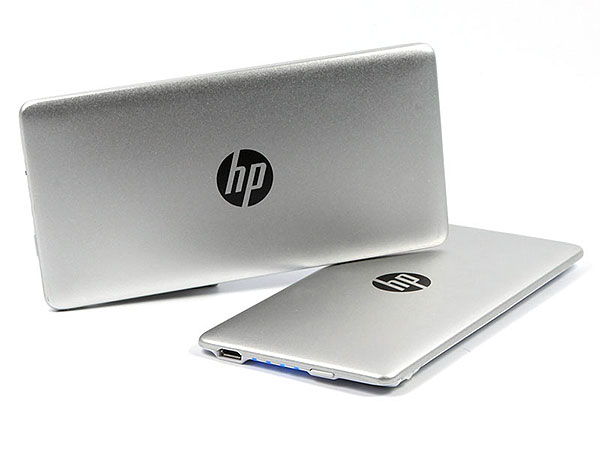 HP Power Bank Power Slim duenn Logo Aufdruck