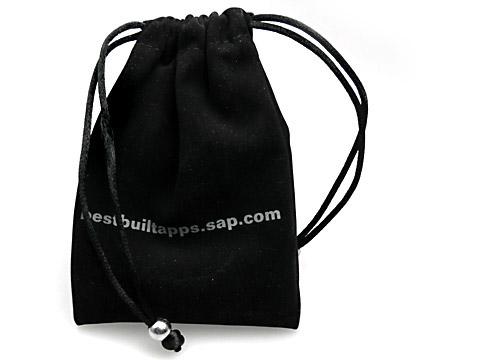 Samtbeutel mit Aufdruck Geschenkbeutel SAP, Textilsäckchen
