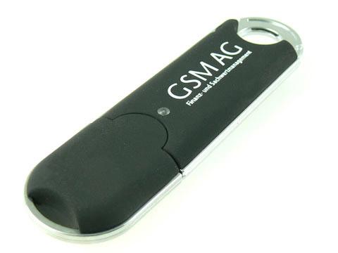 Schwarzer Kunststoff-USB-Stick bedruckt, Kunststoff.02