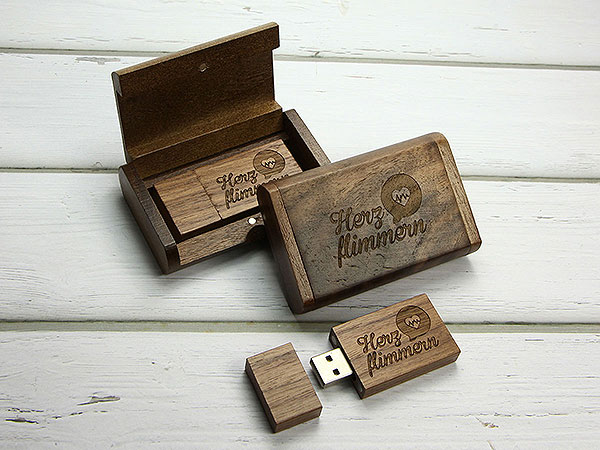 usb stick holz geschenkschatulle dunkel. Black Bedroom Furniture Sets. Home Design Ideas