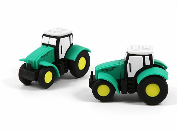 USB Stick Traktor Landwirtschaft Trekker logo gruen aufdruck print