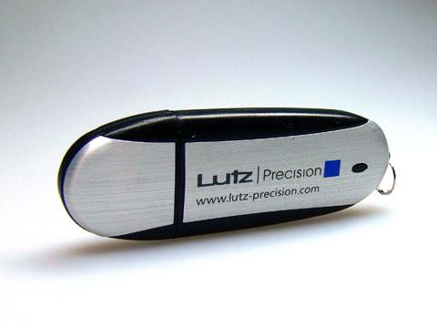 USB-Stick Werbeartikel Aluminium bedruckt, Alu.03