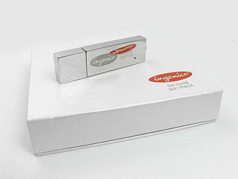 USB-Stick Werbegeschenk mit Verpackung, Metall.04