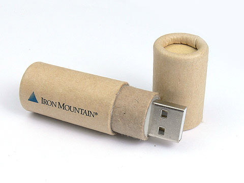 USB-Stick aus Papier iron mountain, USB-Paper.02