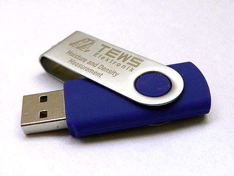 USB-Stick in Sonderfarbe als Werbemittel, Metall.01