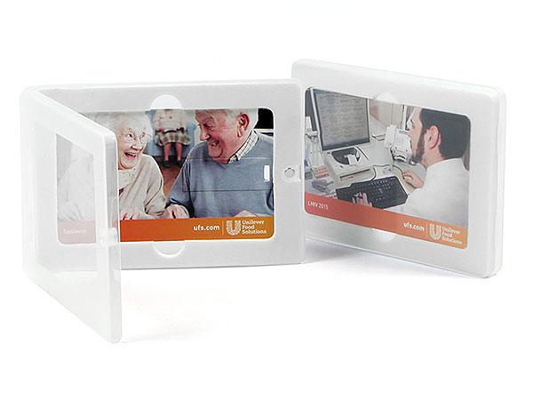 Verpackung Visitenkarte card usb box transparent