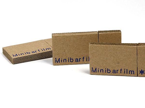 Wellpappe Pappe USB Stick Papier Paper Logo Aufdruck braun