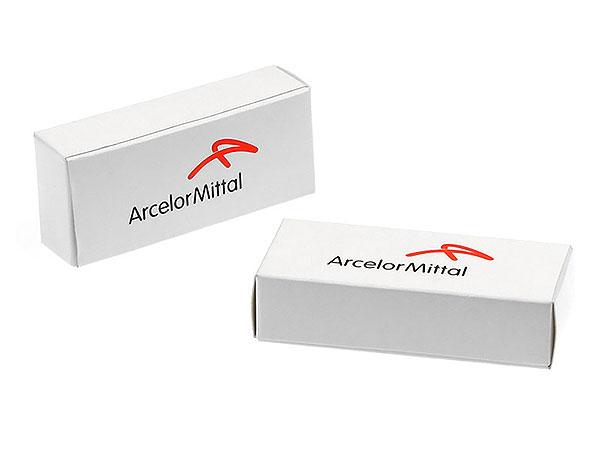 ArcelorMittal individuelle Faltschachtel bedruckt Logo aufdruck