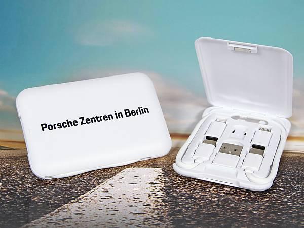 adapter set notfall ladekabel box verpackung porsche werbung