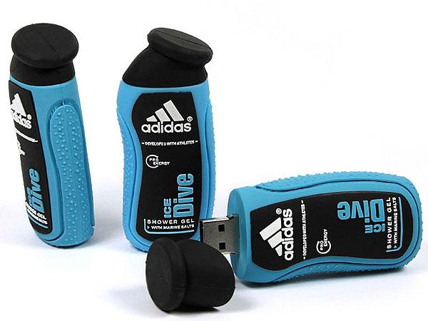 adidas-duschgel-usb-stick, Custom USB-Sticks, dusch gel, adidas