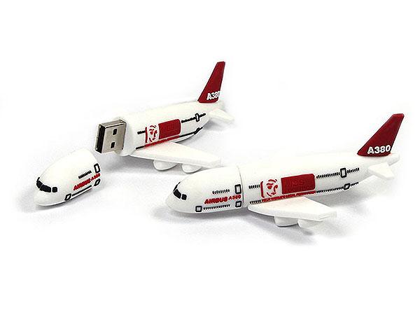 Airbus A380, Flugzeug, Transport, Logistik, Airplane, Flughafen, CustomProdukt, PVC, USB Flugzeug