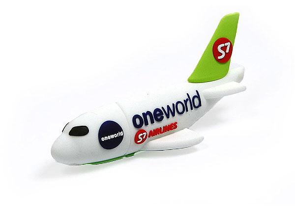 Flugzeug, Airline, Passagiermaschine, Flieger, pvc, weiß, transport, CustomProdukt, PVC, USB Flugzeug