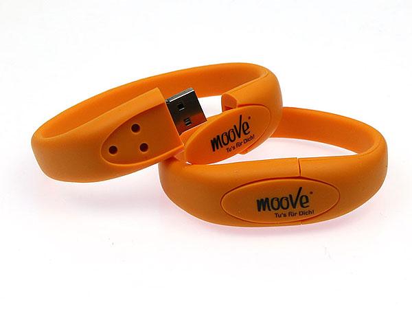 moove, armband, fitness, ornage, individuell, usb armband