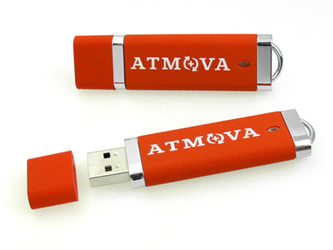 atmova usb-stick kunststoff, Kunststoff.10 rot