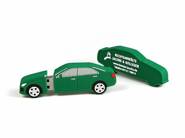 auto als usb stick custom logo gruen fahrzeug