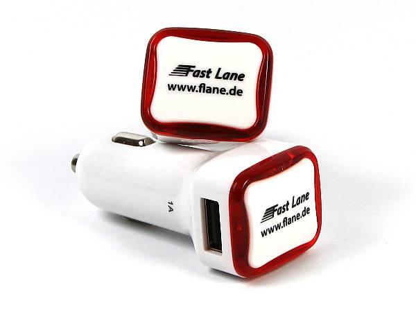 Auto Zigarettenanzuender USB Adapter car charger logo