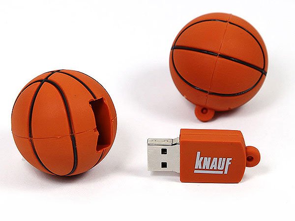 PVC USB-Stick in Basketballform, USB Ball Sonderanfertigung