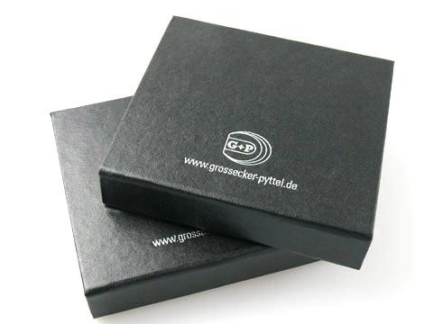 Bedruckte klappbox Geschenkbox schwarz, K01 Magnetklappbox