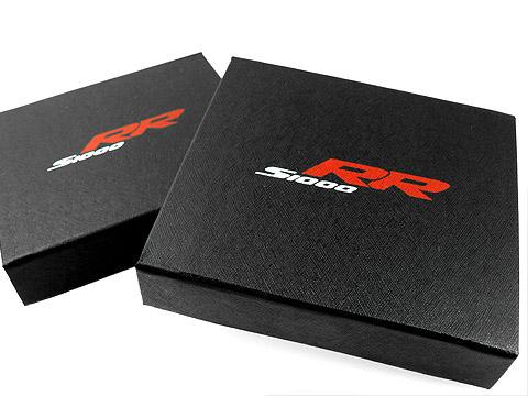 Bedruckte Klappbox schwarz Geschenkbox, K01 Magnetklappbox