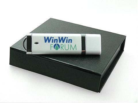 Bedruckter USB-Stick weiss mit Logo, Kunststoff.10