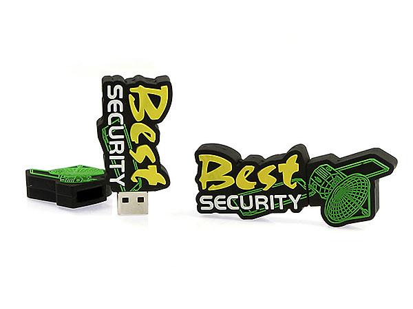 usb-stick-logo-freiform-100.html, Logo USB-Stick Sonderanfertigung Security, CustomLogo, PVC