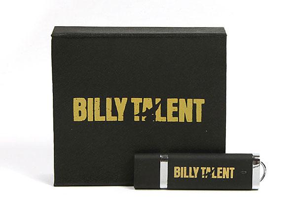 billy talent verpackung geschenk usb-stick schwarz, K01 Magnetklappbox, famous,