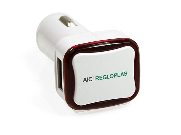 USB Car Charger, Ladegerät, Auto, Autoladegerät, Ladekabel, Adapter, USB-Anschluss, AIC, Regloplas