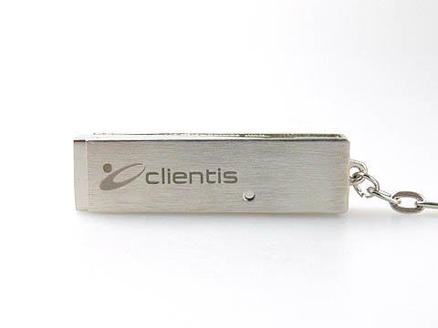 clientis metall-usb-stick graviert m Firmenlogo, Metall.05