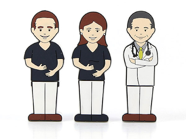 Creative USB Stick Mensch Figur Arzt Arzthelfer Krankenschwester