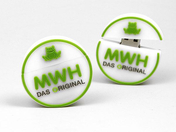 Creative USB Rund Logo Weiß