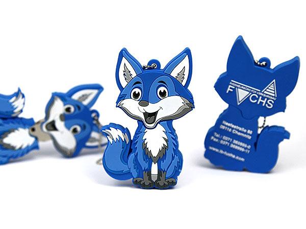 Creative Custom Fuchs blau logo lustig figur maskottchen