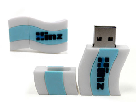 Custom-USB-Stick individuell design weiss, Custom USB-Sticks