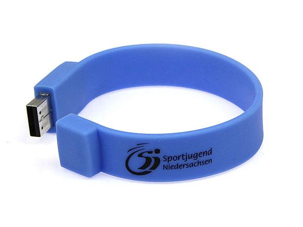 usb stick armband blau aufdruck 1farbig werbung