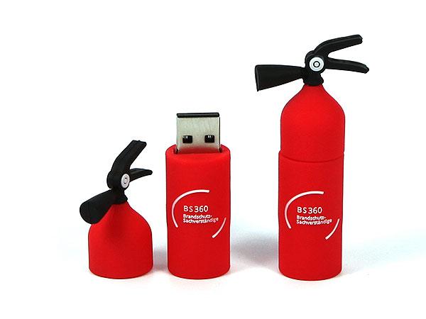 USB Stick Feuerloescher Brand Feuerwehr Schutz