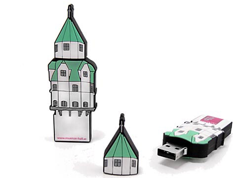 custom usb-stick individuell turm burg weiss, Custom USB-Sticks