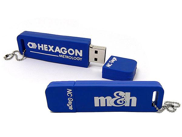 logo rechteckig, Individuell, Custom, eigener USB-Stick, blau, CustomLogo, PVC