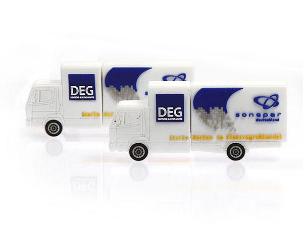 DEG Lastwagen LKW Elektrogroßhandel usb-stick, CustomModifizierbar, PVC