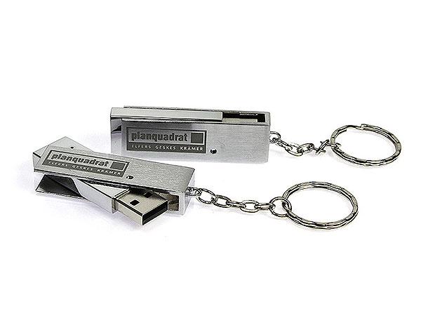drehbarer metall usb stick planquadrat schlüsselanhänger, Metall.05
