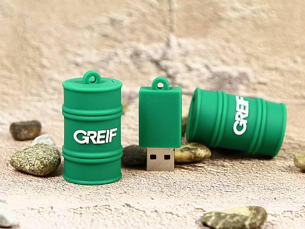 USB-Stick Fass, Flaschen und Verpackungen
