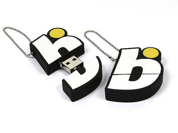 usb-stick-logo-freiform-100.html, Firmenlogo, Kundenlogo, Firma, weiß, gelb, kundenanfertigung, CustomLogo, PVC