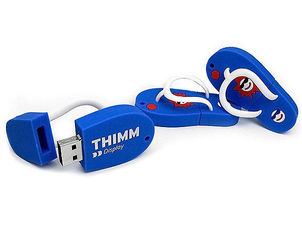 Flip-Flop, Schuhe, Badelatschen, Sommer, Sonne, Strand, blau, CustomModifizierbar, PVC