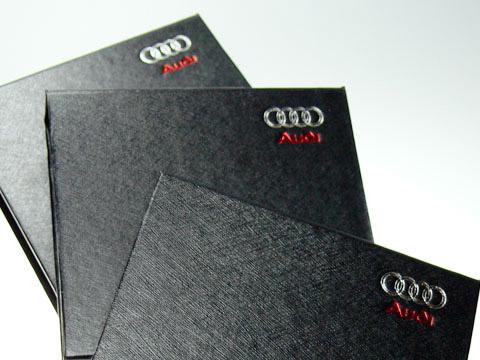 Folien-Gepraegt Audi Klappbox Geschenkbox, K01 Magnetklappbox