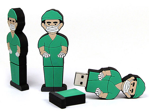 Folks, People, Menschen, Figur, Chirurg, Arzt, OP,Medizin, CustomModifizierbar, PVC, USB Menschen, Männchen