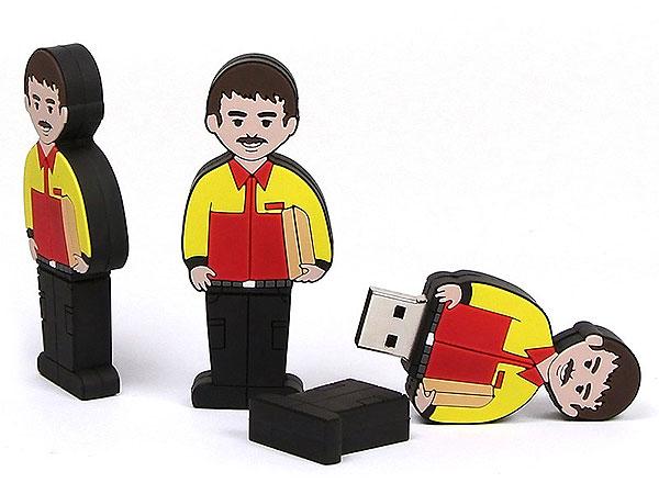 Folks, People, Menschen, Figur, DHL, Paketdienst, Service, CustomModifizierbar, PVC, USB Menschen, Männchen
