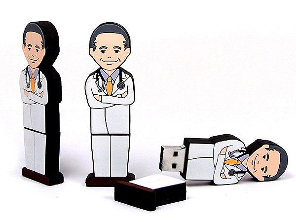 folks, People, Figur, Doktor, Arzt, Medizin, Krankenhaus, Apotheke, Menschen, CustomModifizierbar, PVC, USB Menschen